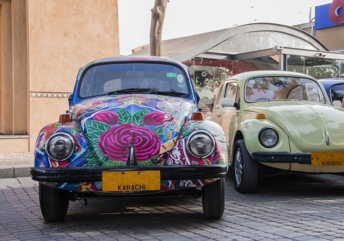 Foxy Car, Car, Local Art, Pakistan, Karachi, Old Car