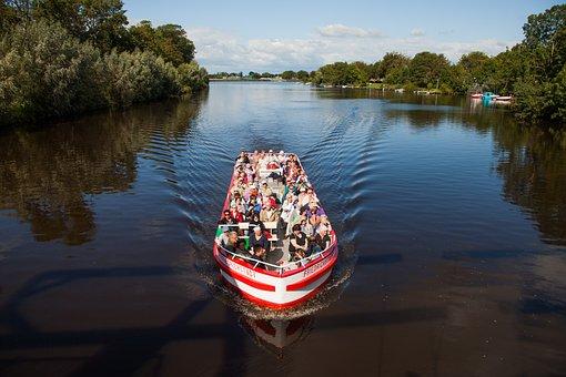 Boot, Tourism, Friedrichstadt, More, Tour, Visit, Ship