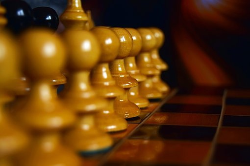 Chess, Line, Brown, Strategy, Board, Game, Competition