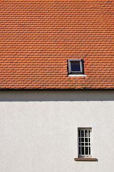 Home, Roof, Sky, Architecture, Red, Tile, Brick, Window