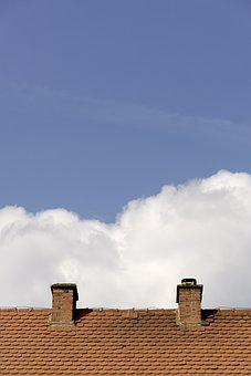 Home, Roof, Sky, Architecture, Red, Tile, Clouds, Brick