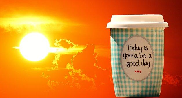 Beautiful Day, To Go, Joy, Coffee, Cup, Happy