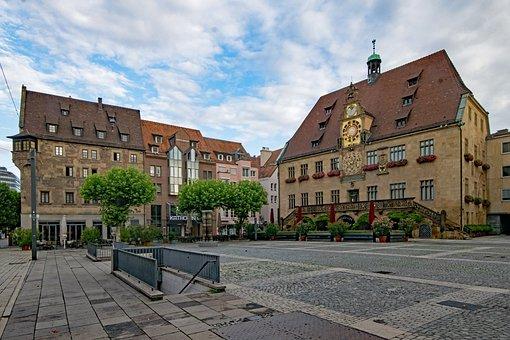 Marketplace, Old Town Hall, Heilbronn
