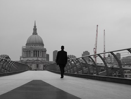 St Paul's, Millennium Bridge, Street Photography