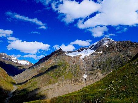 Mountain, Nature, Landscape, Sky, Clouds