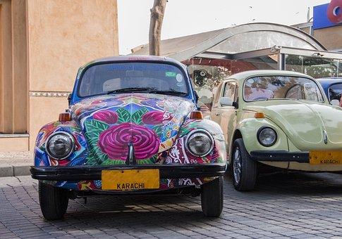 Foxi Car, Car, Local Art, Pakistan, Karachi, Old Car