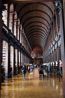 Library, Dublin, Ireland, Trinity, Old, University