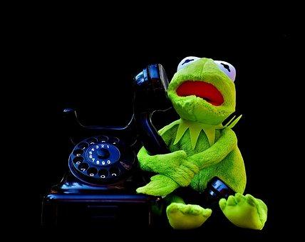 Kermit, Frog, Phone, Figure, Funny, Frogs, Animal