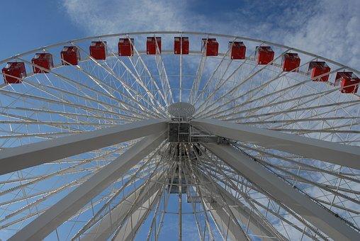 Chicago, Ferris Wheel, Ferris, Wheel, Pier, Navy, Park