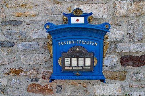 Post Mail Box, Mailbox, Erfurt, Thuringia Germany