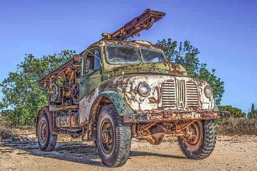 Old Truck, Car, Vehicle, Vintage, Rustic, Retro, Lorry