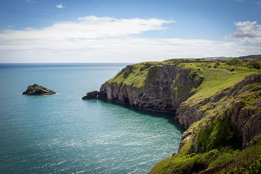 Coast, Brixham, Devon, Berry Head, Sea, England, Uk