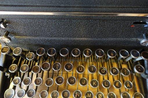 Typewriter, Vintage, Knowledge, Secretary, Pre Data