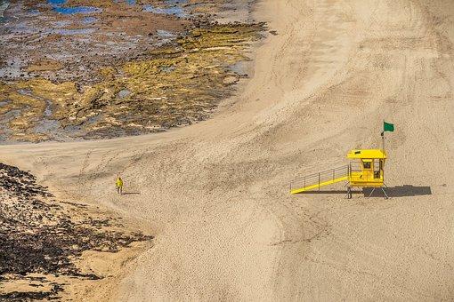 Beach, Yellow, Sand, Sea, Coast, Nature, Sport, Summer