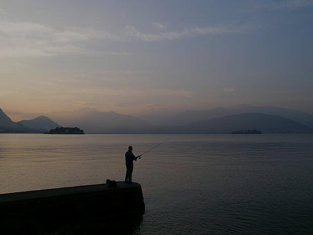 Fishing, Lake, Nature, Water, Rod, Leisure, Recreation