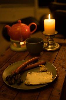 Dinner, Abendbrot, Romantic, Gedeckter Table, Food