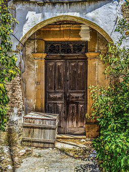 Cyprus, Athienou, Village, Traditional, House, Door
