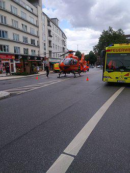 Technology, Helicopter, Amok, Barmbek, Rescue