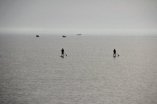 Sea, Water, Sup, Stand Up Paddle, By The Sea