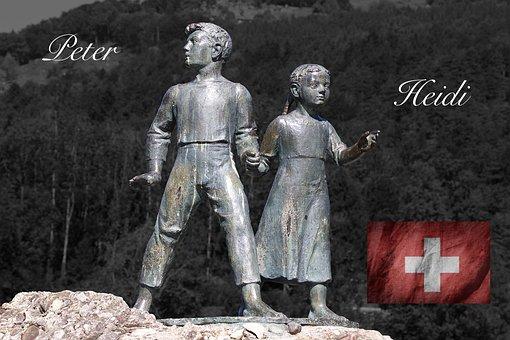 History, Switzerland, Folklore, Peter, Heidi, Flag