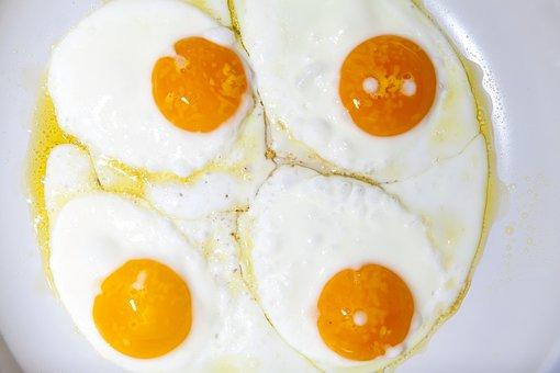 Pan, Egg, Protein, Yolk, Eat, Breakfast, Cook, Food