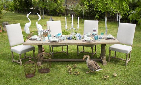 Table, Invite, Food, Garden, Home, Architecture, Style