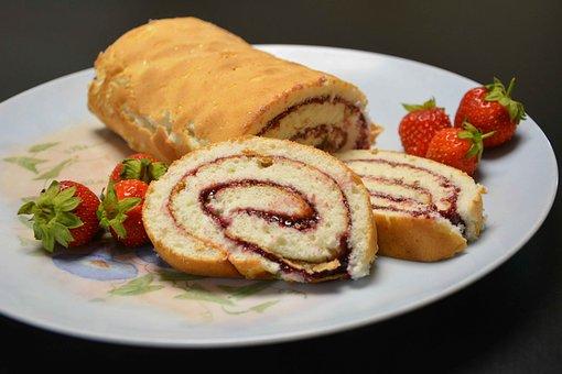 Roulade, Jordbærroulade, Hindbærroulade, Cake, Delights