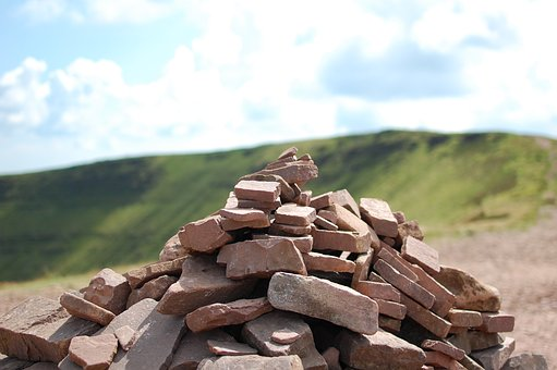 Rocks, Wales, Hills, Pen Y Fan, Landscape, Green
