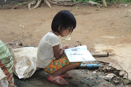 Kid, Reading, Book, Learning, Girl