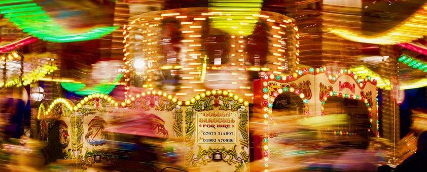 Carousel, Ride, Fair, Lights, Movement, Bright, Fun