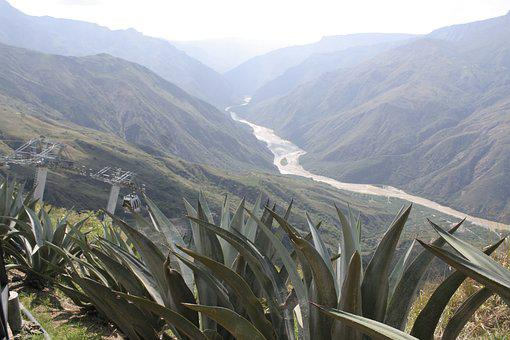 Mountains, Valley, River, Colombia, Chicamocha