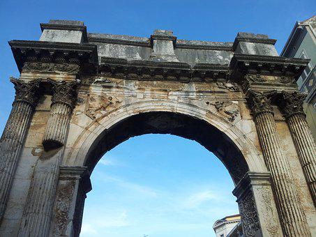 Roman, Arch, Architecture, Ancient, Landmark, Old