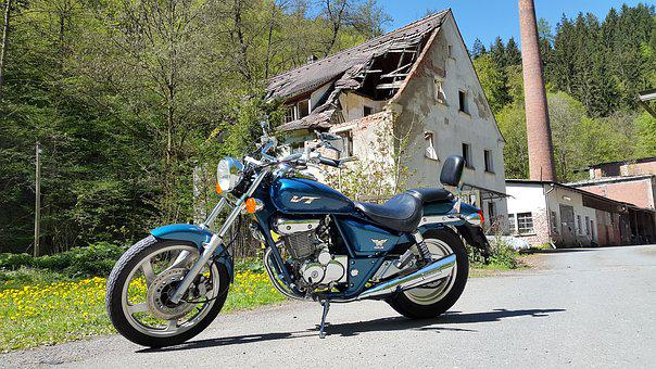 Motorcycle, Lost Place, Drive, Broken, Lapsed, Run Down