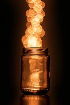 Light, Sparkle, Jar, Glitter, Glow, Effect, Shine