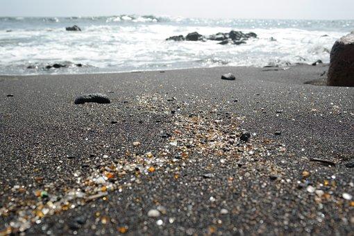 Glitter, Sand, Ocean, Shiny, Sparkle, Shimmer, Waves