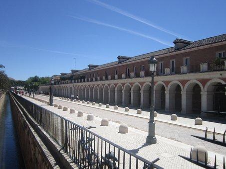 Squares, Aranjuez, Cities, Spain, Landscape