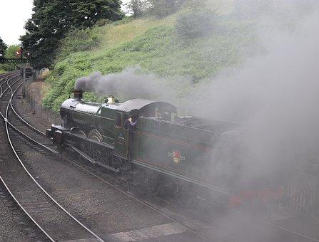 Steam Train, Locomotive, Steam, Train, Transportation