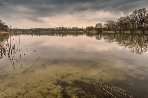 Lake, Water, Long Exposure, Pol Filter, Landscape