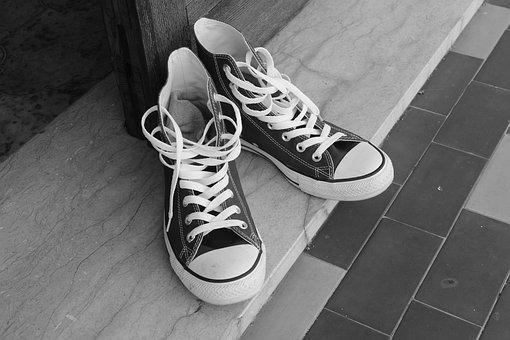 Converse, All Star, All Stars, Shoes, Black And White