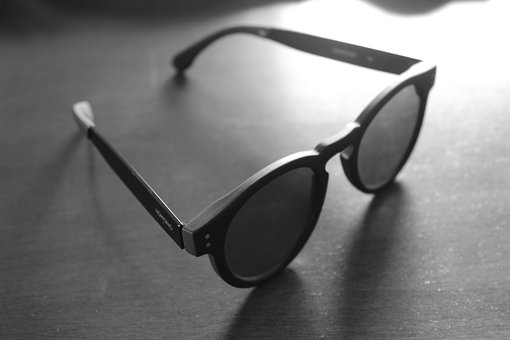 Glasses, Black, White, Fashion, Style, Design, Young