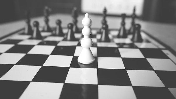 Black And White, Board, Chess, Game, Sport, Checkered