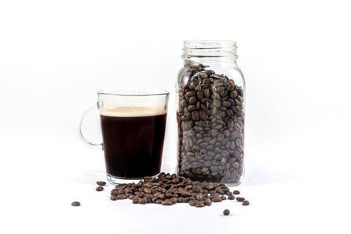 Glass, Black, Brewed, Coffee, Hot, Drinks, Jar