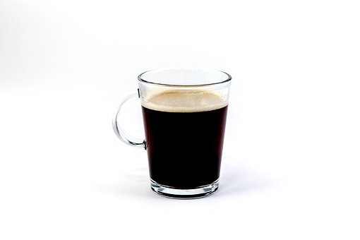 Glass, Brewed, Coffee, Hot