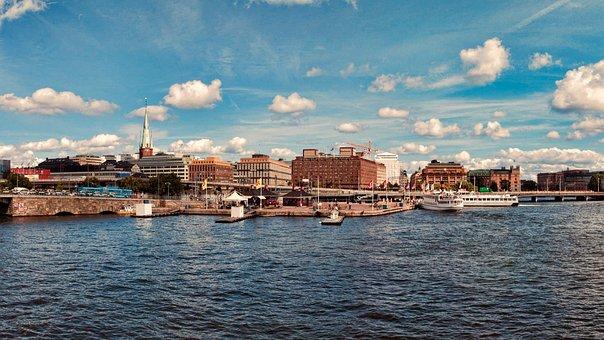 Stockholm, Sea, Embankment