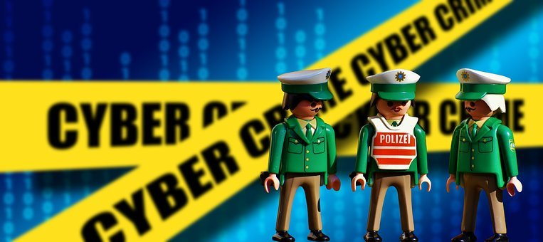 Police Officers, Old, Playmobil, Green, Figures, Funny