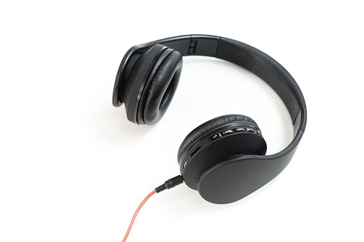 Headphones, Headset, Music, Black, Speaker, Electronic