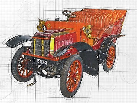 Car, British Car, Old Car, The 1904 Imperial, Old Timer