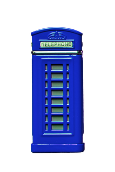 Phone Booth, Blue, Cropping, Exemption, Isolated