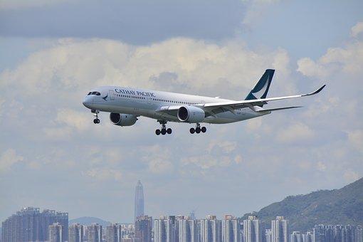 Hongkong, Airport, Plane, Travel, Asia, Building, Kong
