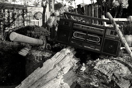 Black And White, Monochrome, Woods, Vintage, Radio